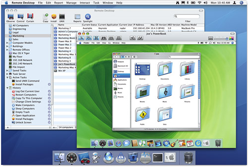 Apple Remote Desktop 3로 원격접속을...
